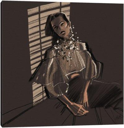 Shadey Lady Canvas Art Print