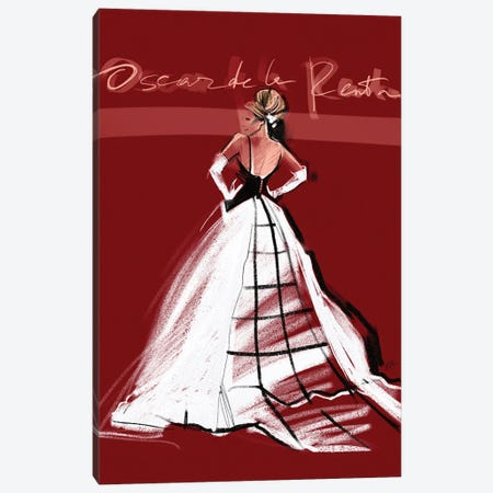 SJP MET Gala '14 Canvas Print #NGB24} by Natalia Nagibina Canvas Art
