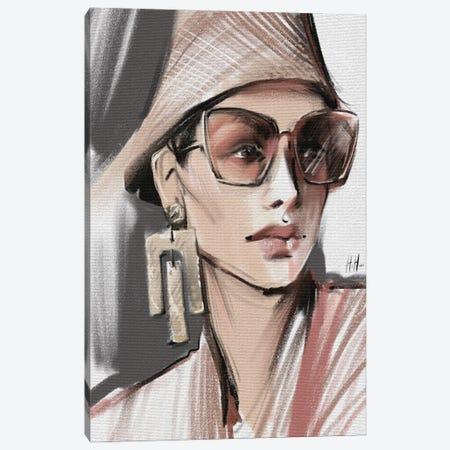 Sunglasses And Panama Hat Canvas Print #NGB28} by Natalia Nagibina Canvas Art Print