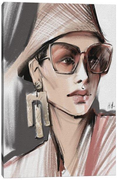 Sunglasses And Panama Hat Canvas Art Print