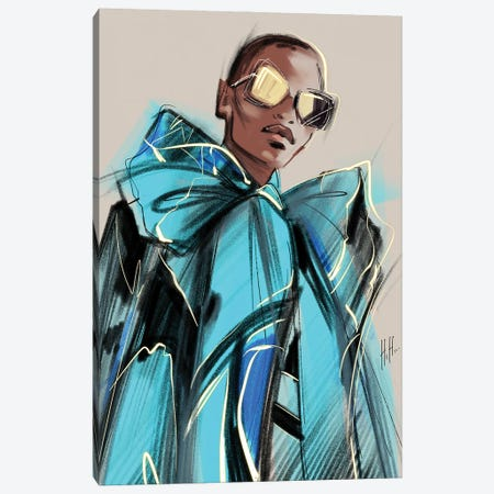 Blue Mood Canvas Print #NGB2} by Natalia Nagibina Art Print