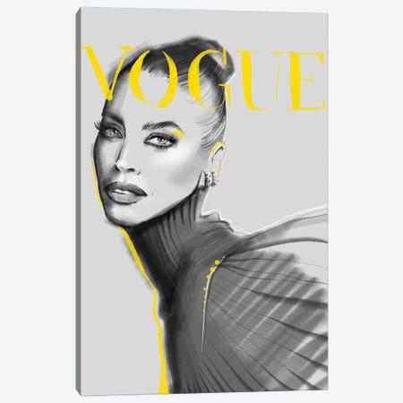 Yellow Vogue Canvas Print #NGB32} by Natalia Nagibina Canvas Wall Art