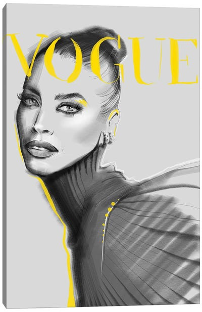 Yellow Vogue Canvas Art Print