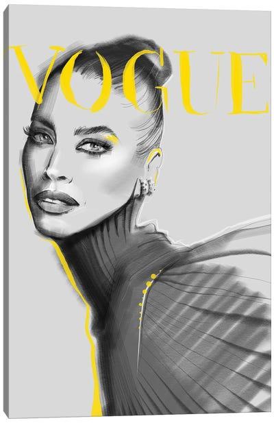 Yellow Vogue Canvas Art Print
