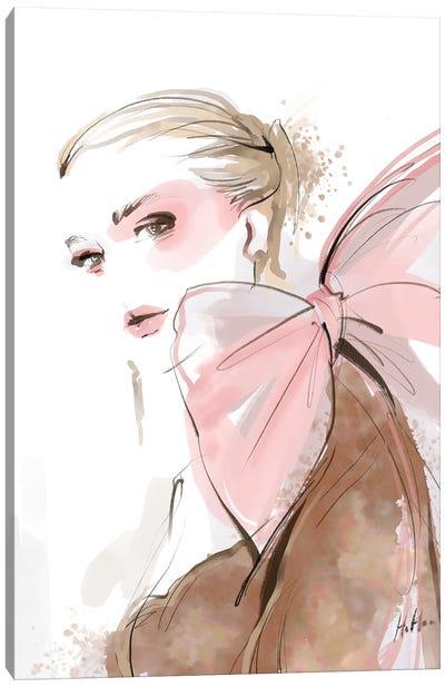 Blushing Bow Canvas Art Print
