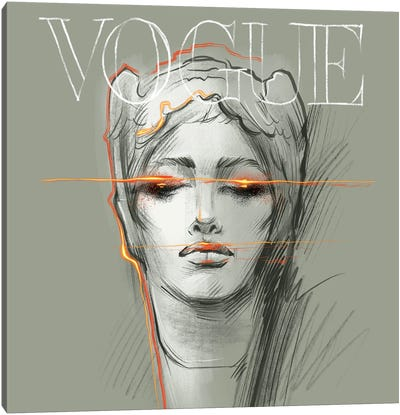 Electric Vogue Canvas Art Print