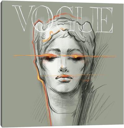 Electric Vogue Canvas Art Print