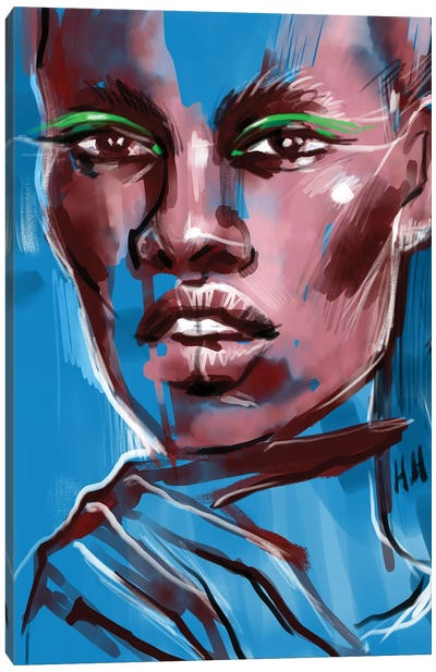 Green Wings Canvas Art Print