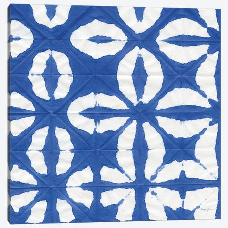 Aquarelle Blue Square I Canvas Print #NGD17} by Nancy Green Canvas Art Print