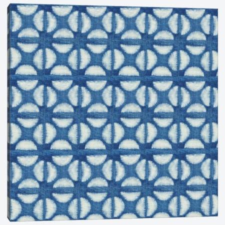 Blue Shibori I (Blue Coffee Bean) Canvas Print #NGD1} by Nancy Green Art Print