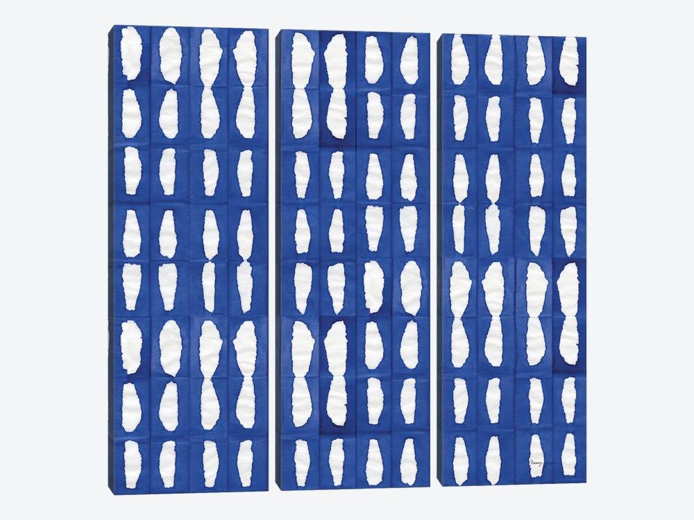 Aquarelle Blue VIII by Nancy Green 3-piece Canvas Art Print