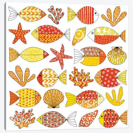Fish Tale II Canvas Print #NGD26} by Nancy Green Canvas Art