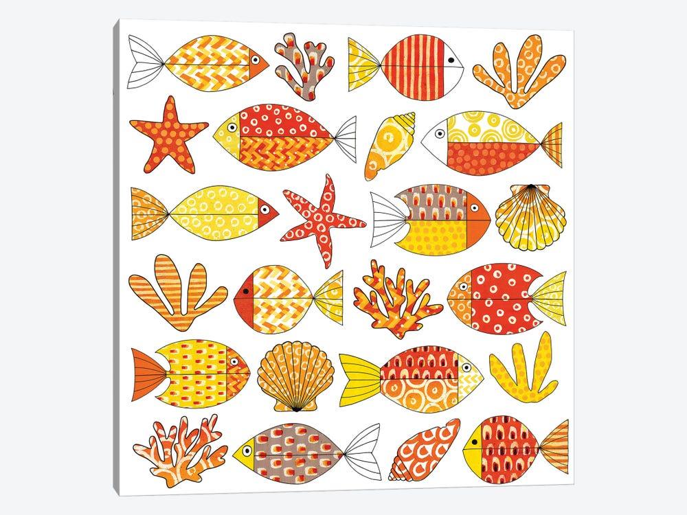 Fish Tale II by Nancy Green 1-piece Canvas Art