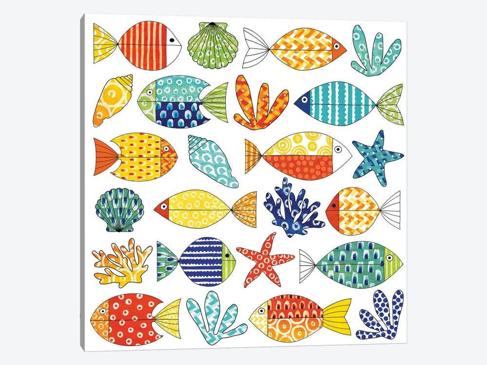 Fish Tale III by Nancy Green 1-piece Canvas Art Print