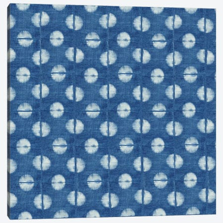 Blue Shibori II 3-Piece Canvas #NGD2} by Nancy Green Canvas Print