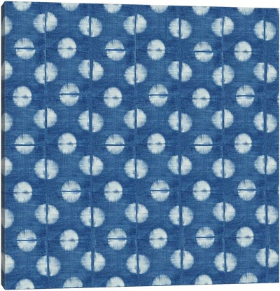 Blue Shibori II Canvas Art Print