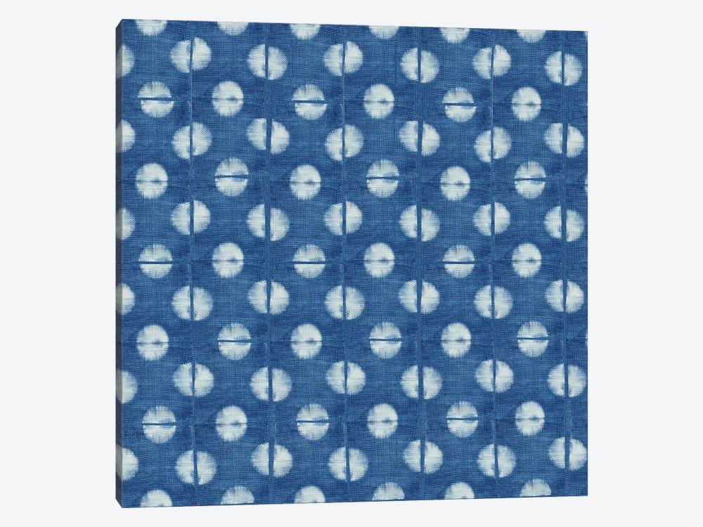 Blue Shibori II by Nancy Green 1-piece Canvas Art Print