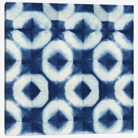 Blue Shibori III Canvas Print #NGD3} by Nancy Green Design Art Print