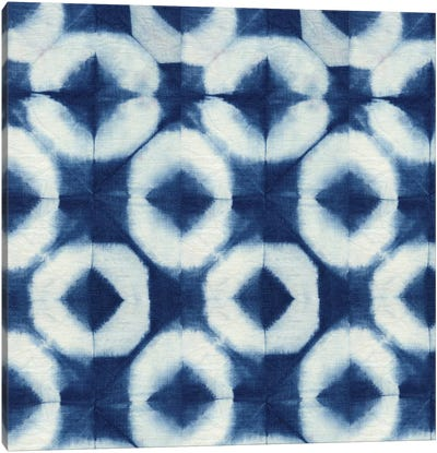 Blue Shibori III Canvas Art Print