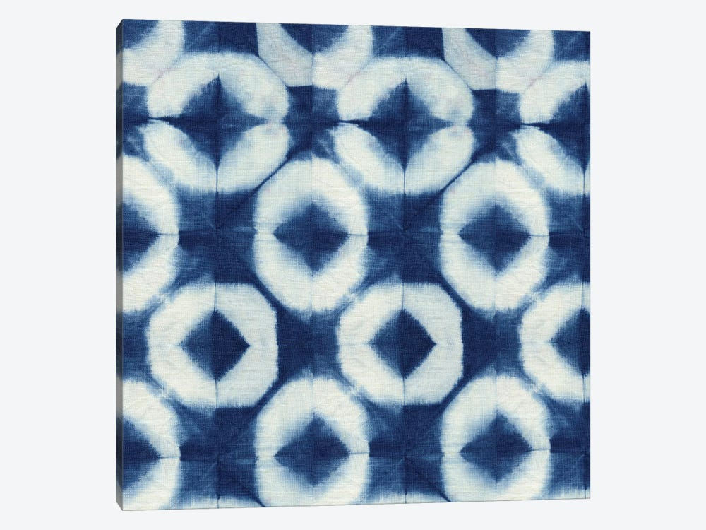 Blue Shibori III by Nancy Green Design 1-piece Canvas Wall Art