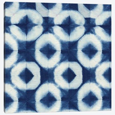 Blue Shibori III Canvas Print #NGD3} by Nancy Green Art Print