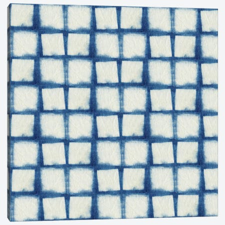 Blue Shibori IV 3-Piece Canvas #NGD4} by Nancy Green Canvas Art