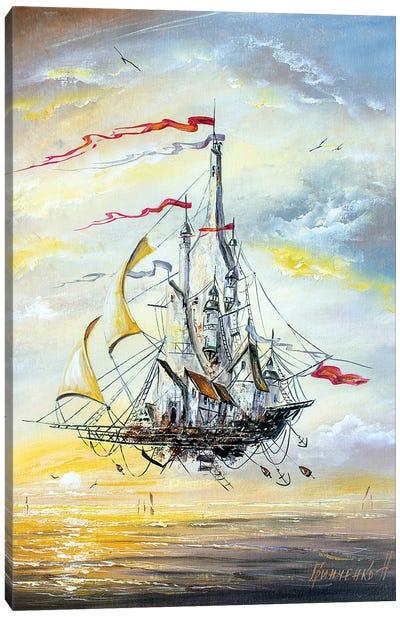 Flying City Canvas Art Print
