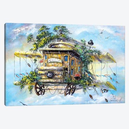 Flying Coffeemill Canvas Print #NGR11} by Natalia Grinchenko Canvas Wall Art