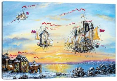 Flying Dutch City Canvas Art Print