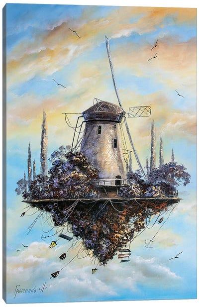 Flying Windmill Canvas Art Print