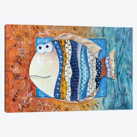 Good Luck Fish Canvas Print #NGR19} by Natalia Grinchenko Canvas Wall Art