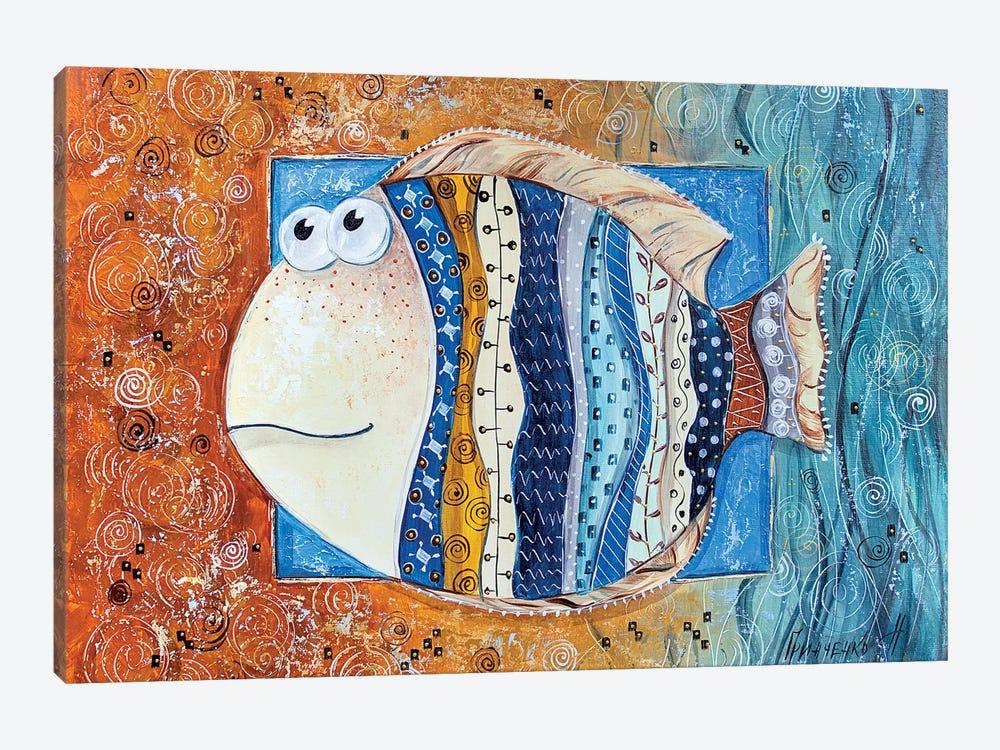 Good Luck Fish by Natalia Grinchenko 1-piece Canvas Art Print