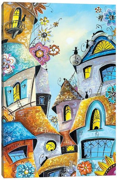 Amazing Cat City Canvas Art Print
