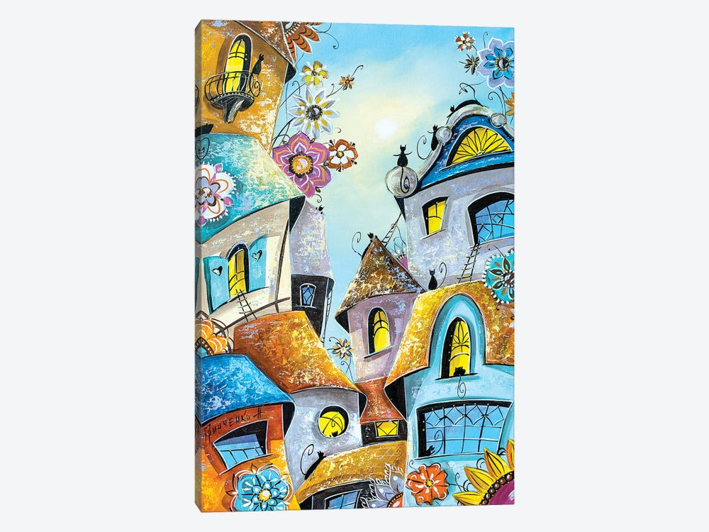 Amazing Cat City by Natalia Grinchenko 1-piece Canvas Wall Art