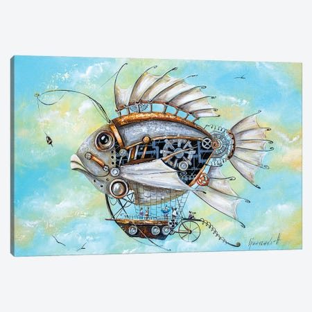 Mechanical Fish Travel Canvas Print #NGR25} by Natalia Grinchenko Canvas Art