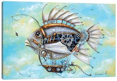 Mechanical Fish Travel Canvas Art Print