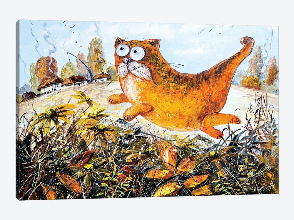 Red Cat Of Autumn by Natalia Grinchenko 1-piece Canvas Artwork