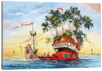 Sailors Canvas Art Print