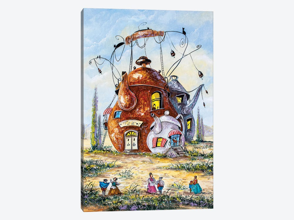 Stories Of The Tea Town by Natalia Grinchenko 1-piece Canvas Wall Art