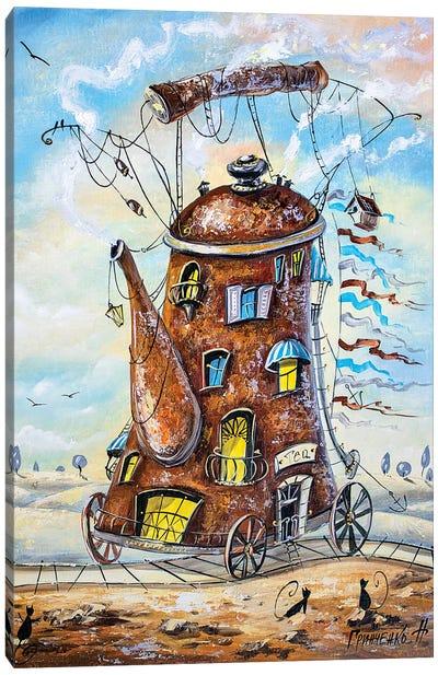 Teapot-Traveler Canvas Art Print