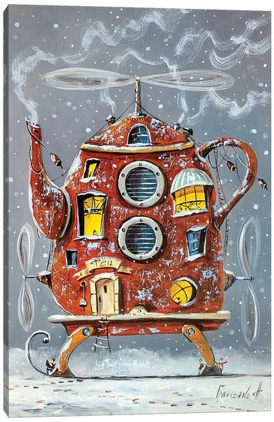 Warm Teapot-Home. Canvas Art Print