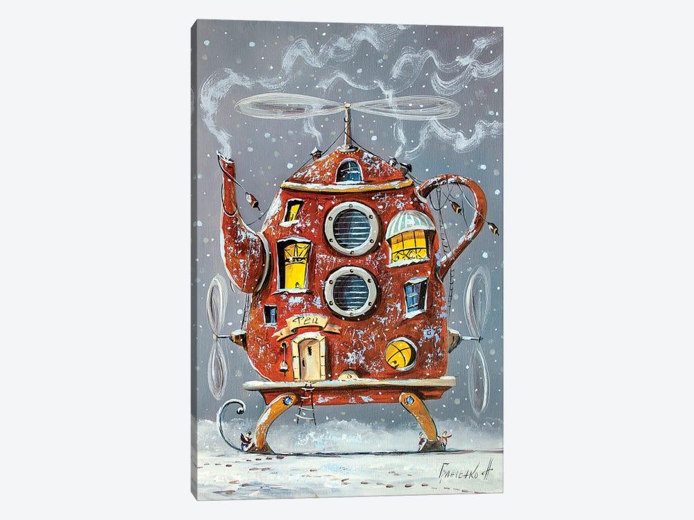 Warm Teapot-Home. by Natalia Grinchenko 1-piece Canvas Artwork