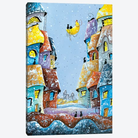 Winter Lullaby Of The Moon Canvas Print #NGR37} by Natalia Grinchenko Canvas Print
