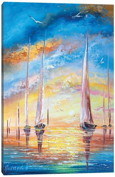 Yachts On Vacation Canvas Art Print