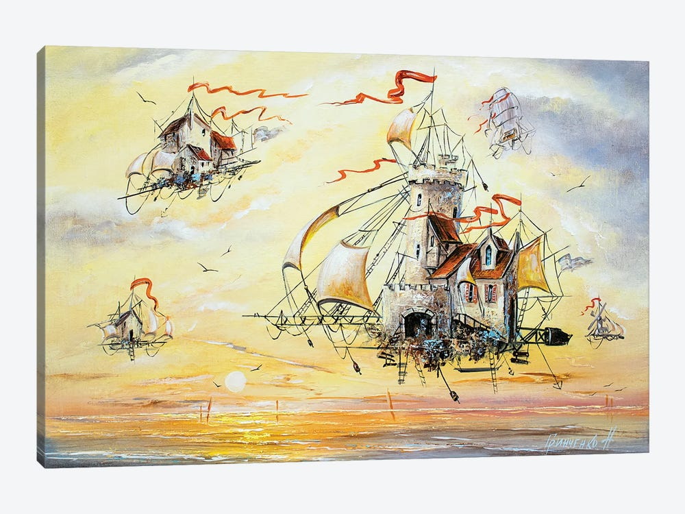 Amazing Flying Dutchmen by Natalia Grinchenko 1-piece Art Print