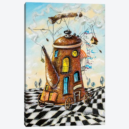 Tea House Traveler Canvas Print #NGR44} by Natalia Grinchenko Canvas Art