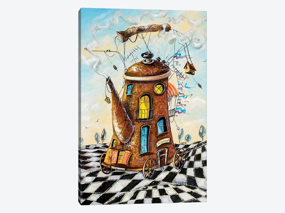 Tea House Traveler by Natalia Grinchenko 1-piece Canvas Print