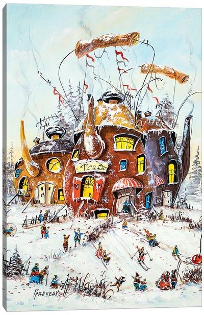 Winter Activities In The Tea Canvas Art Print