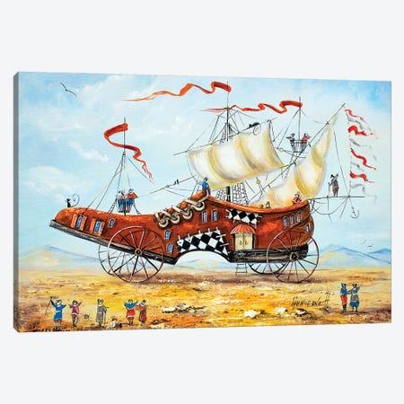Traveler's Shoe Canvas Print #NGR51} by Natalia Grinchenko Canvas Wall Art