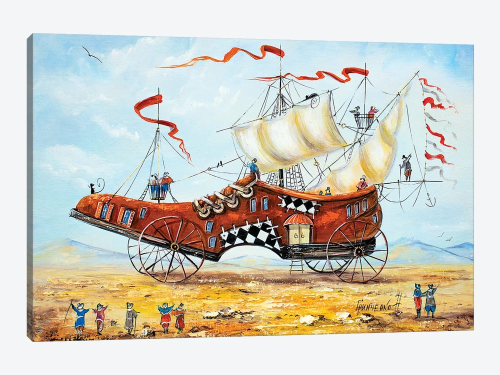 Traveler's Shoe by Natalia Grinchenko 1-piece Canvas Art Print